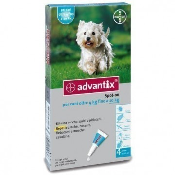 ADVANTIX SPOT ON 4PIP 1ML 4-10